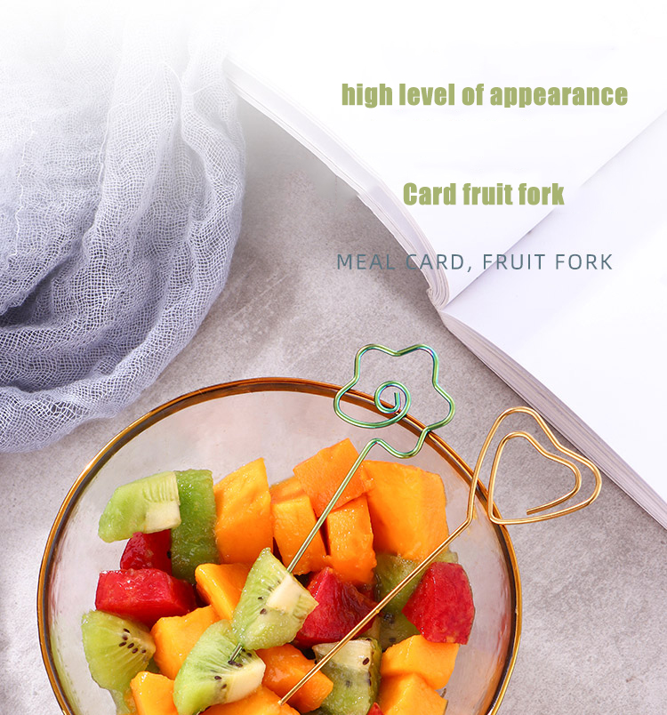 Colorful Fruit Fork