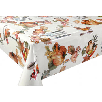 3D Laser Coating Tablecloth Navy