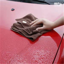 fast drying blue microfiber cleaning car towel