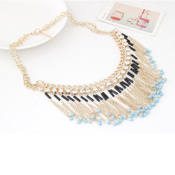 Costume Jewelry Beaded Necklace Designs Bib Tassel Necklace