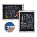 Wood board blackboard stand breakfast chalkboard sticker