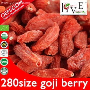 The highest level 280 /50g of goji berries