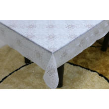 Printed pvc lace tablecloth by roll liner