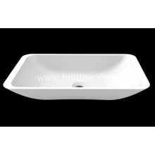 Purchasing for Square Washbasin Simple solid surface matte stone sink for hotel supply to Ireland Supplier