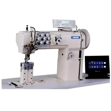 Computerized Post Bed Double Needle Ornamental Stitch Sewing Machine