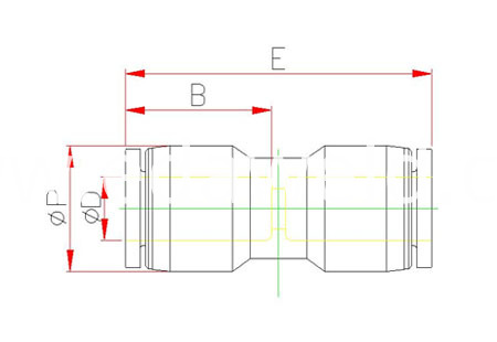PUT Pneumatic Quick Connector Fittings