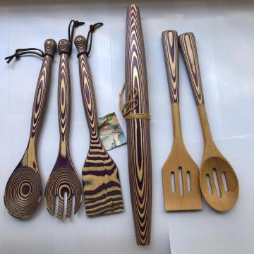 Pakkawood spoons for cooking