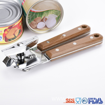 New Fashion Design for China Can Opener,Non Slip Can Opener,Manual Can Opener Supplier Pretty Drape Wooden color Handle Can opener supply to Poland Suppliers