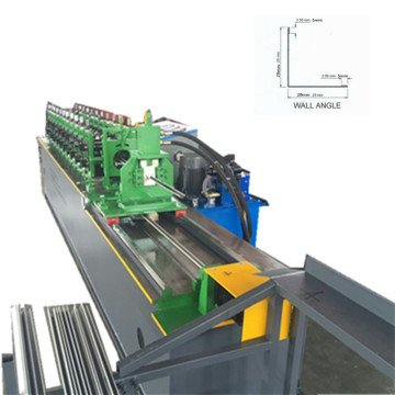 Wall angle metal furring machine