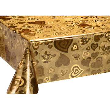 Top Quality Silver Gold Tablecloth