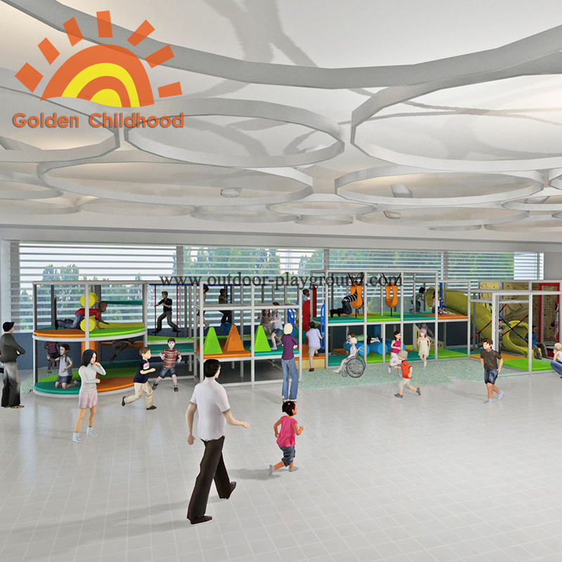 Multi-functional large children indoor playground