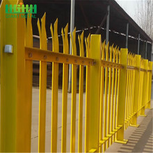 Top for Palisade steel fence Details Direct factory Decorative Security steel Palisade Fence supply to United Kingdom Manufacturer