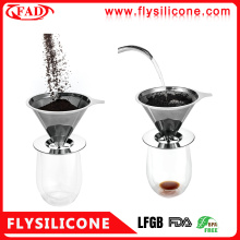 OEM 304 Stainless steel coffee dripper