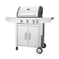 Double Layer Hood Stainless Steel Gas Barbecue Grill