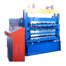 Manufacturing Companies for Three Layers Roof Roll Forming Machine Three Layer Roof Sheets Metal Roll Forming Machine export to Spain Exporter