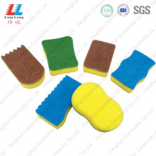 Top for Green Sponge Scouring Pad World best selling kitchen cleaning sponge product supply to Russian Federation Manufacturer