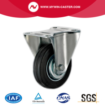 Rigid Black Rubber Metal Core Industrial Casters
