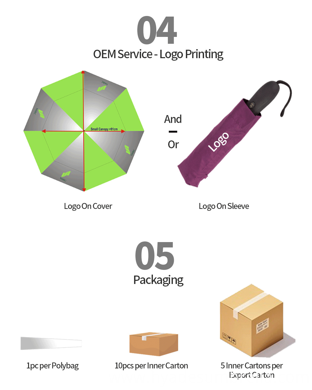 Auto Ope And Close Folding Umbrella Packaging