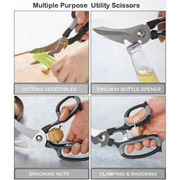Kitchen Shears Heavy Duty Multi-Purpose Kitchen Scissors