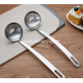 2 Piece Stainless Steel Soup Ladle Slotted Spoon