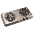 Stainless steel double burner hotplate