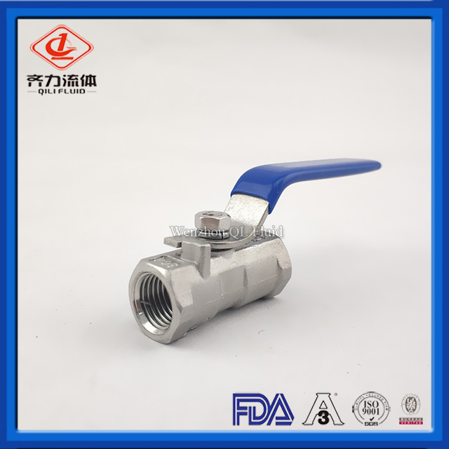 Sanitary stainless steel thread One-Piece Ball Valve