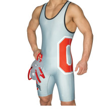 Cheap custom sublimated printing wrestling singlets