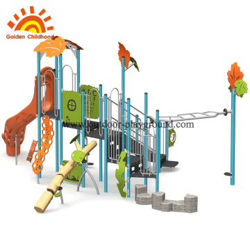 Jungle Outdoor Play Structure With Slide