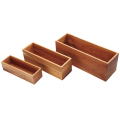 Wooden large buffet tray set
