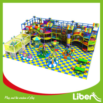 Inside amusement playground structure equipment set