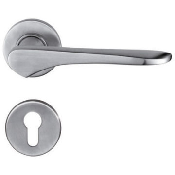 Polished Stainless Steel Wooden Door Handle