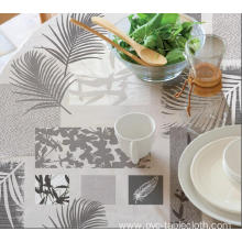 Elegant Pvc Sheet Tablecloth with Non woven backing