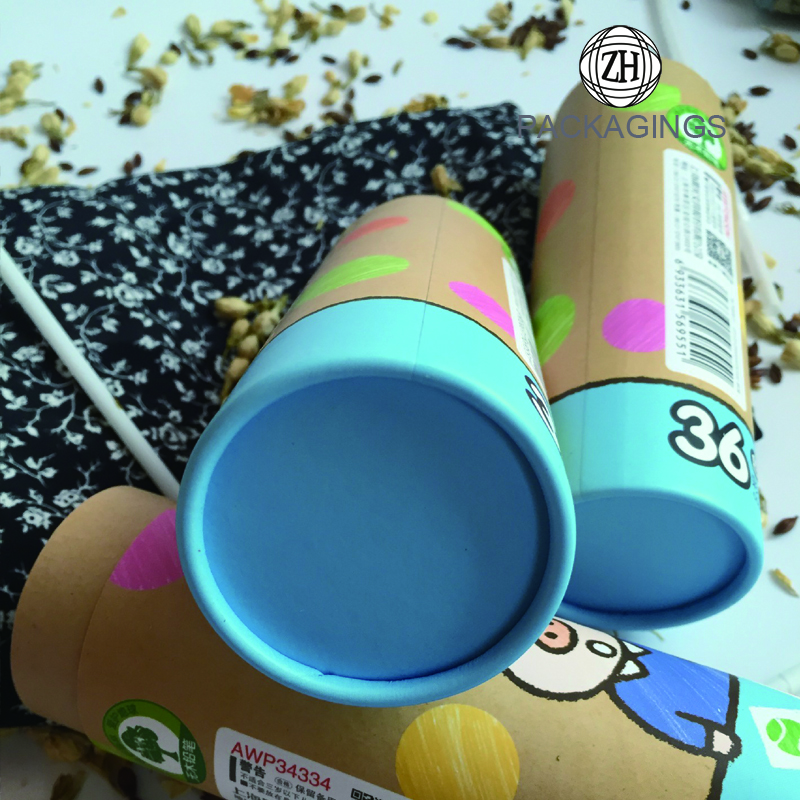 Custom wax crayon tube box/wax crayon packaging