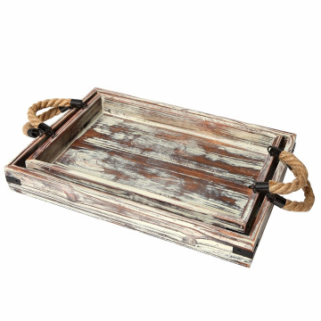 Wooden lacquered custom printed serving tray