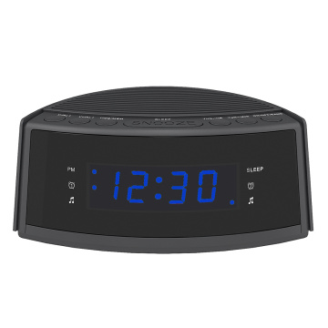 Hot Sale Dual-Alarm Snooze Large LED Display Digital Radio Talking Alarm Clock with FM Radio