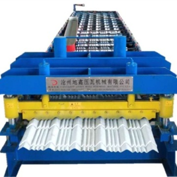 Hydraulic color glazed sheet roll forming machine