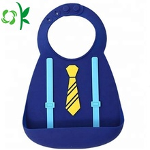 BPA Free Fashion Gentlemen Suit shape Silicone Bibs