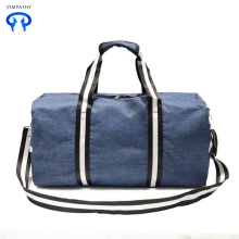 Custom-made plain canvas travel bag