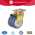 Plate Swivel Twin Wheel TPR Caster