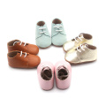 Lace Soft Leather Baby Oxford Causal Shoes