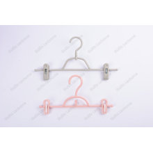 Colourful Plastic Children's Pants Hanger With Two Clips