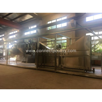 Compact chicken processing line