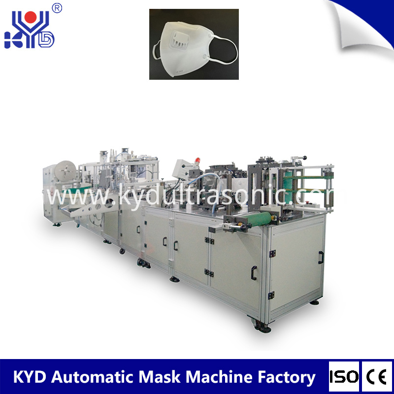 Folded Ffp2 Mask Machine With Valve Welding