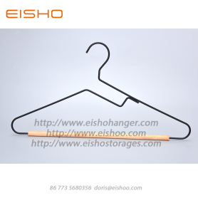 EISHO New Style Black Wood Metal Coat Hanger