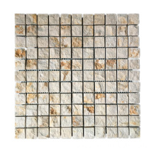 Classical Golden Marble Stone Mosaic Tiles