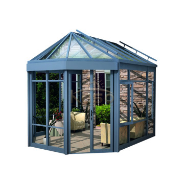 High Quality for Sunroom Glass House Romania Prefabricated Malaysia Kit Finland Garden Wood House supply to Palestine Manufacturers