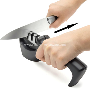 Kitchenware knife sharpener for straight and serrated knives