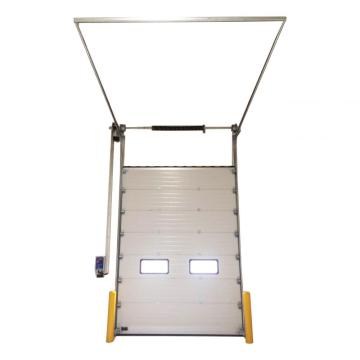 Quick rolling up sectional aluminum door