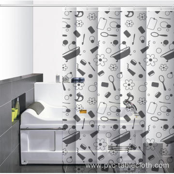 Waterproof Bathroom printed Shower Curtain Rod Singapore