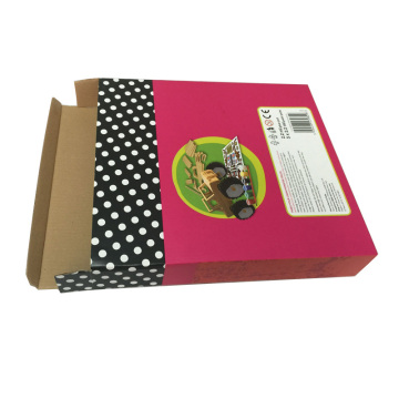 Cheap shipping customized corrugated matte CMYK gift box